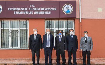 Rektörümüz Prof. Dr. Akın LEVENT'ten Kemah MYO Ziyareti